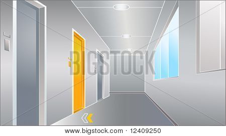 vector illustration of the door to bright future