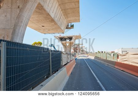 fragment  view  of the road under construction