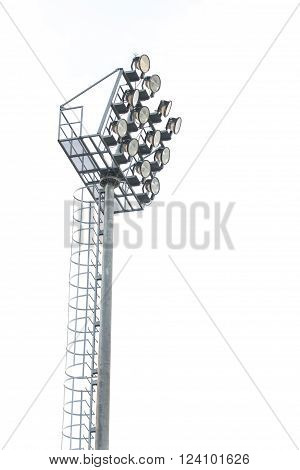 Light pole isolated on white background, object