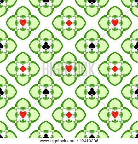 Spielkarte-Anzüge in nahtlose Casino ornament