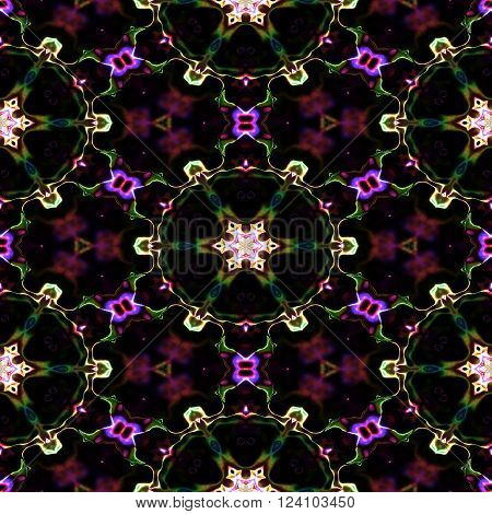Kaleidoscopic seamless generated texture pattern or background