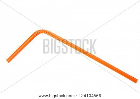 Orange straw on white background