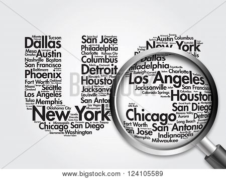 Us Letters With Cities Names