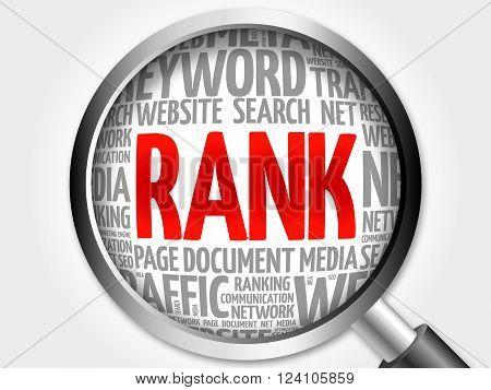 Rank Word Cloud With Magnifying Glass