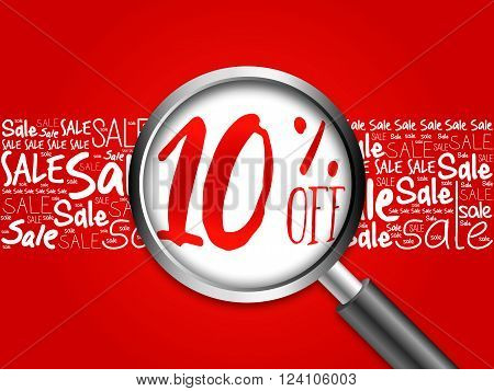 10% Off Word Cloud Background