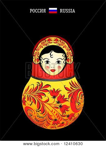 Matryoshkas of the World: Russian original doll