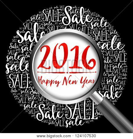 2016 Happy New Year Word Cloud