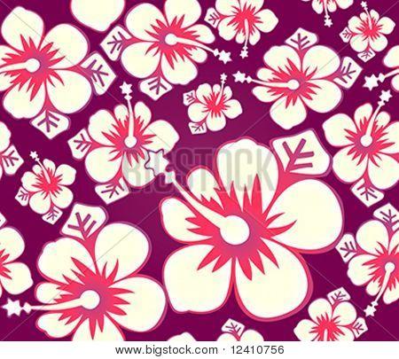 Hibiscus flower japanese seamless pattern