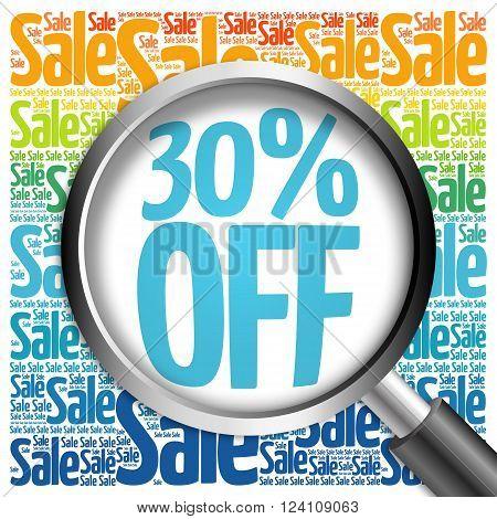30% Off Sale Word Cloud
