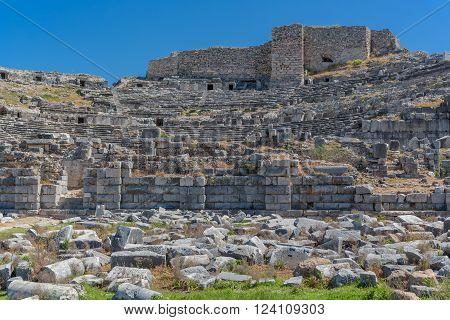 Theater ruins of ancient Miletus Aydin Province Turkey