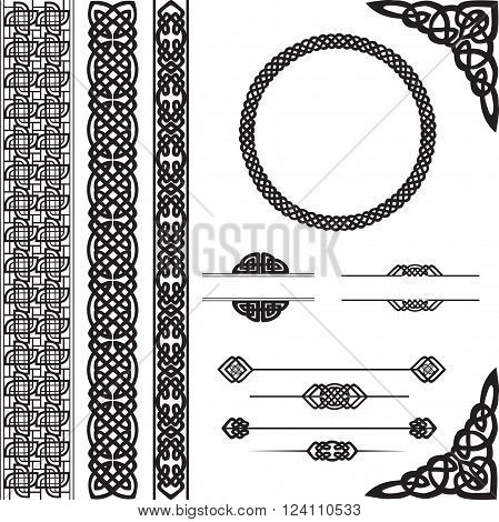 decorative elements in Celtic style for design