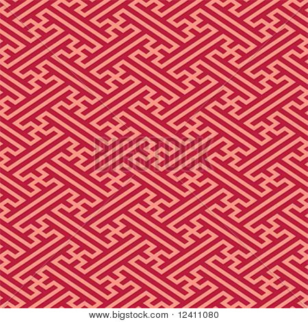 Retro japanese linen seamless pattern in red colors