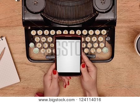 Phone With Blank Screen  In Hand