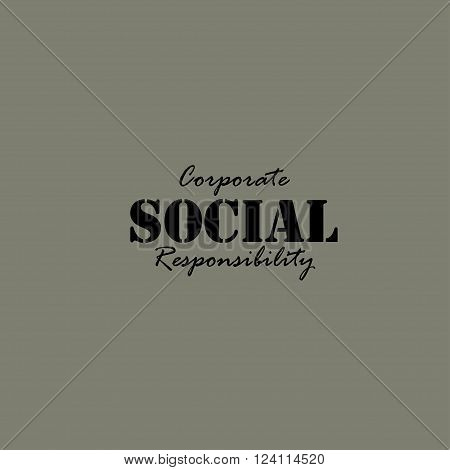 Corporate Social Responsibility. Illustration template for the card or poster.