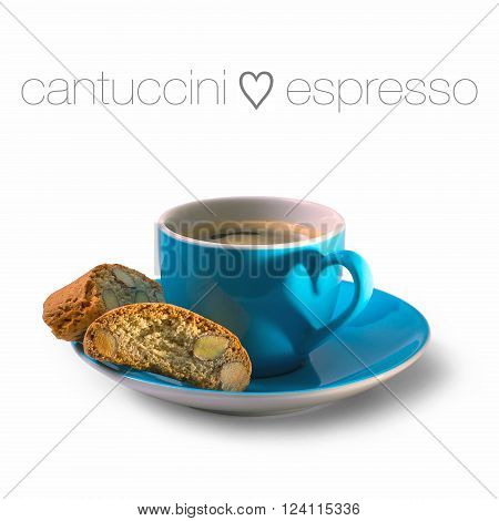 Cantuccini And Espresso Cup With Heart Shape