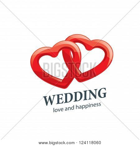 Abstract logo for your wedding. Vector template illustration