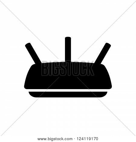 Wireless router on white background, shade picture