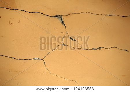 Cracked Plaster Wall