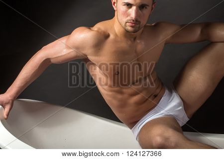 Man On Bathtub
