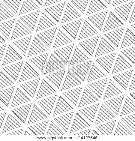 Seamless pattern. Modern stylish texture with repeating geometrical shapes striped triangles. Vector element of graphic design