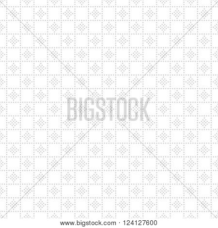 Vector seamless pattern. Modern stylish texture. Regularly repeating gentle pastel dotted grid with small dots rhombus. Vector seamless background. Contemporary design