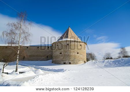 Old Ladoga fortress  founded in IX-X centuries by Prince Rurik. History of Russia and the War Russia and Sweden.