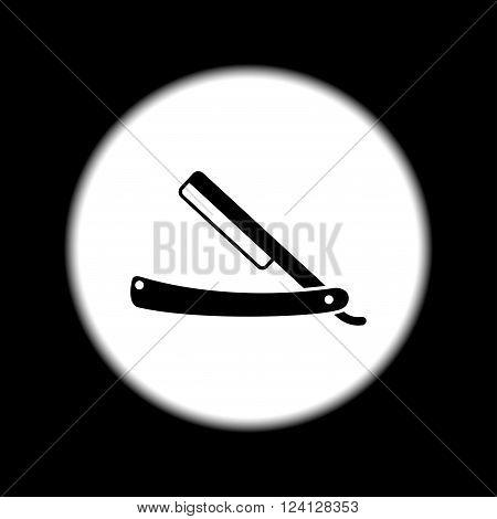 retro razor icon. Flat design style eps 10