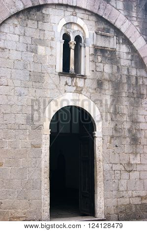 Entrance to the church of St. Luke's, Kotor (Montenegro)