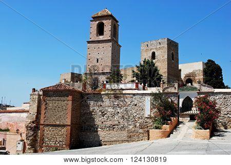View of the castle (Castillo del Cerro de las Torres) Alora Malaga Province Andalusia Spain Western Europe.