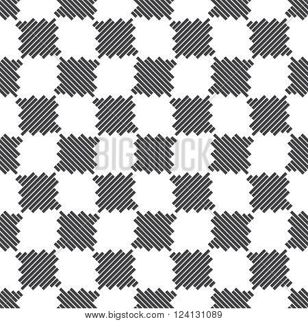 Seamless checkered pattern. Modern stylish texture. Contemporary original design. Vector element of graphical design
