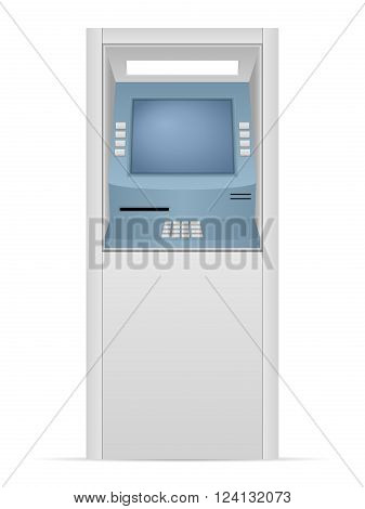 ATM machine on a white background. Vector illustration.