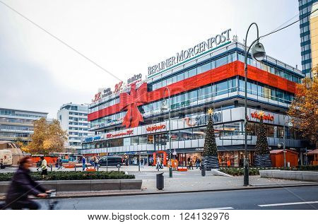 BERLIN - November 12: Typical Street view November 12, 2014 in Berlin, Germany. Berlin is the capital of Germany. With a population of approximately 3.5 million people.BERLIN, GERMANY