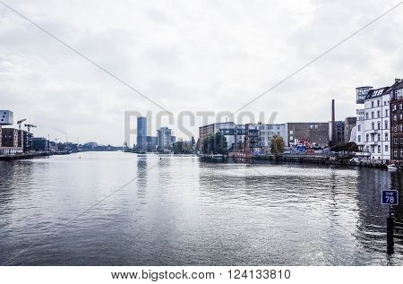 BERLIN - October 15: Typical Street view October 15, 2014 in Berlin, Germany. Berlin is the capital of Germany. With a population of approximately 3.5 million people.BERLIN, GERMANY