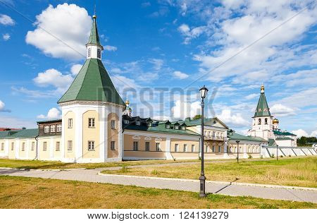 Iversky Monastery in the Novgorod region. Monastery was founded by Patriarch Nikon in 1653