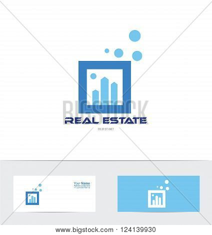 Vector company logo icon element template real estate building concept