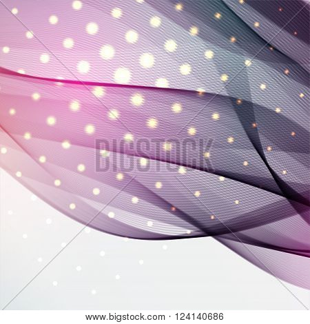 Bstract Colorful Background With Swirl Waves. Abstract Background Design. Eps 10 Vector Illustration