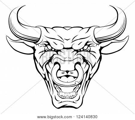 Tough Bull Mascot Face