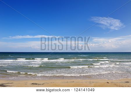 summer beach and sea in Apulia Italy - holiday vacation destination