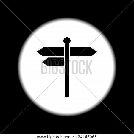 signpost icon. Flat Vector illustration EPS 10
