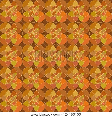 seamless pattern - a mosaic from the alternating circles. vector illustration