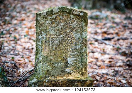Ancient tombstone on old ancient jewish cemetery