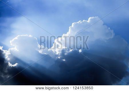 Sunbeam through Dark Clouds, Soft focus Background