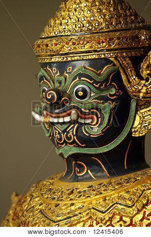 Asura Thai sculpture on Barge