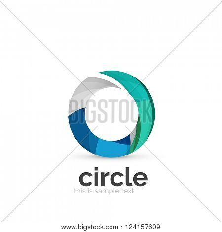 Abstract swirly round logo template. Vector illustration