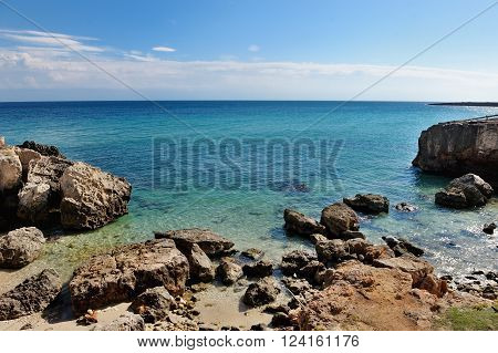 sea of Monopoli in summer Apulia Southern Italy - holiday vacation destination