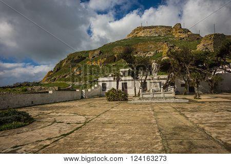 Monastery Of Sacred Heart Pilgrimage At  Bottom Of Mountain Exomvourgo