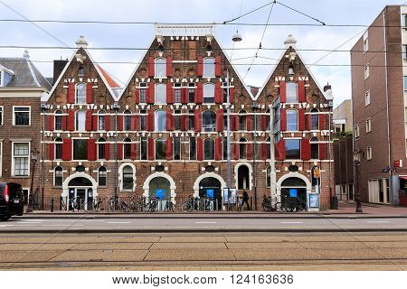 Amsterdam, Netherlands - May 5: This ia an old house in the area of the city called Yodenburg May 5, 2013 in Amsterdam, Netherlands.