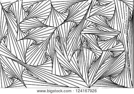 Cobweb black line on white  background abstract  illustrations vector
