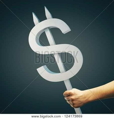 Grey Dollar Sign
