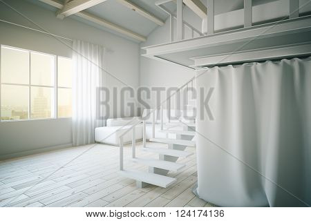 White Living Room Side